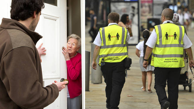 Scammers have been going door-to-door pretending to be Covid marshals