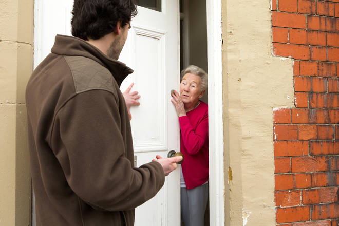 The scammers have been approaching people at their doorsteps [stock picture]