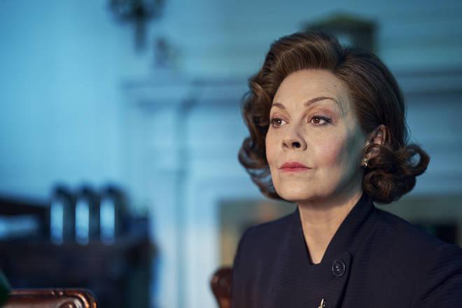 Helen McCrory as PM Dawn Ellison in Roadkill