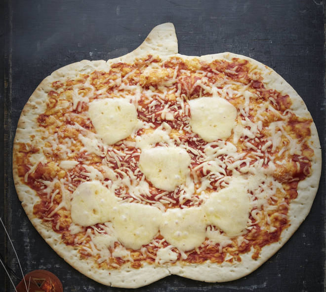 Asda's pumpkin-shaped pizza comes in five flavours