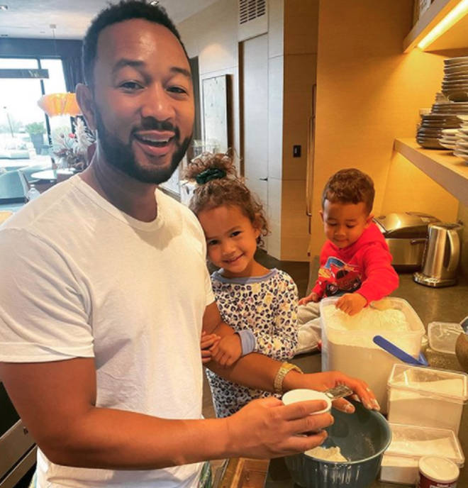 Chrissy Teigan shares children Miles and Luna with husband John Legend
