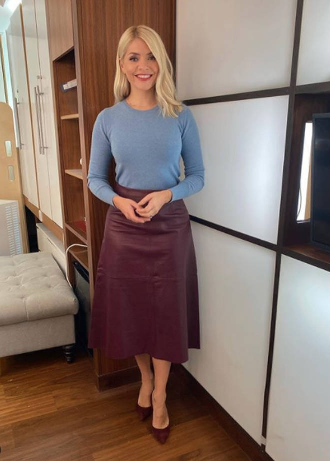Holly Willoughby's skirt if from Boden