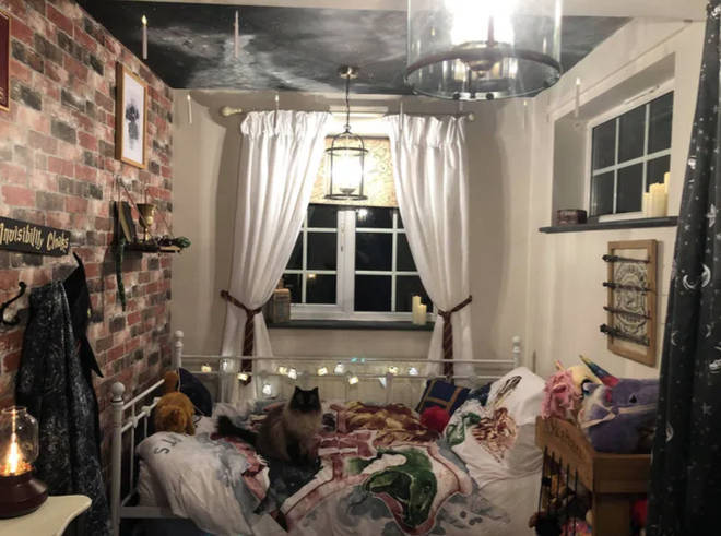 Sophia Daly created this Harry Potter inspired room