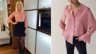 Holly Willoughby's blouse is from Massimo Dutti
