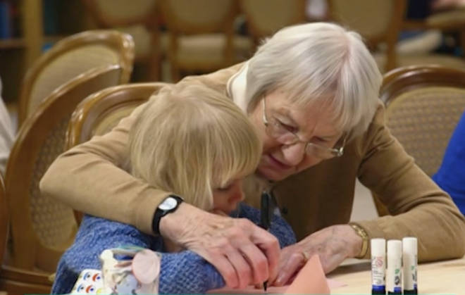 Old People's Home For 4 Year Olds showed emotional scenes between Scarlett and Beryl