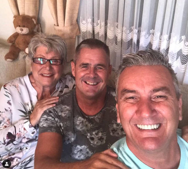 Gogglebox's Jenny Newby, Lee Riley and his partner Steve Mail