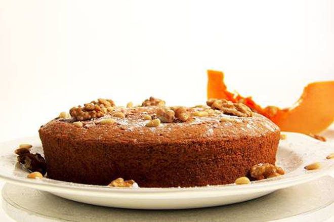 This pumpkin and coffee cake is a real treat