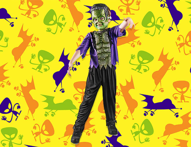 Your little one will look super scary in this Frankenstein costume