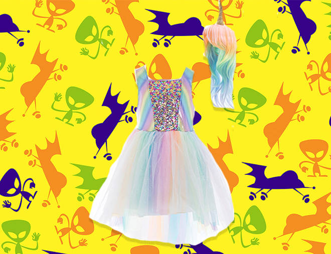 This unicorn costume is pretty and pastel