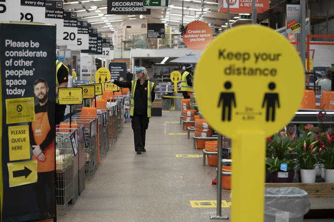 B&Q was allowed to remain open during the Spring lockdown