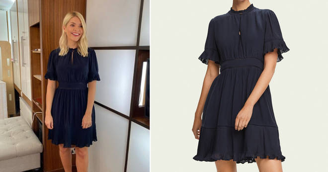 Holly Willoughby is wearing a mini dress on This Morning today