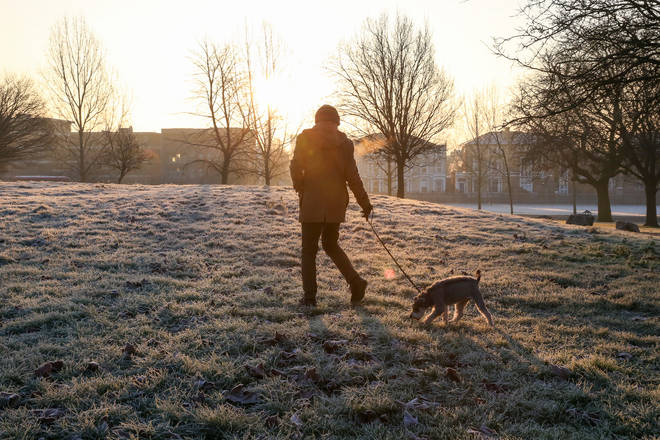 Frost is expected in some parts of the UK (stock image)