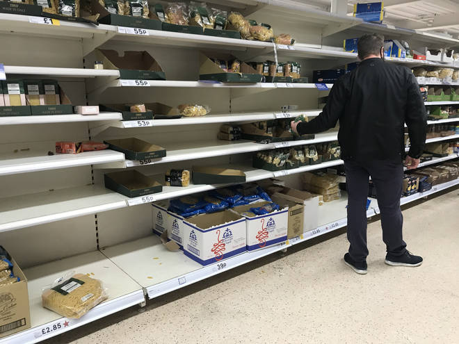 Panic buying has started again in some supermarkets