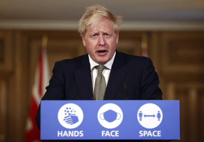 Boris Johnson announced the English lockdown over the weekend