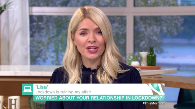 The woman told Holly and Phil that she was worried second lockdown would ruin her affair