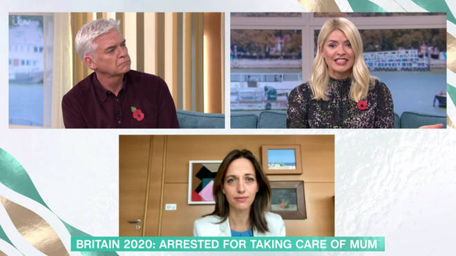 Holly Willoughby told the Minister they haven't given care homes enough time
