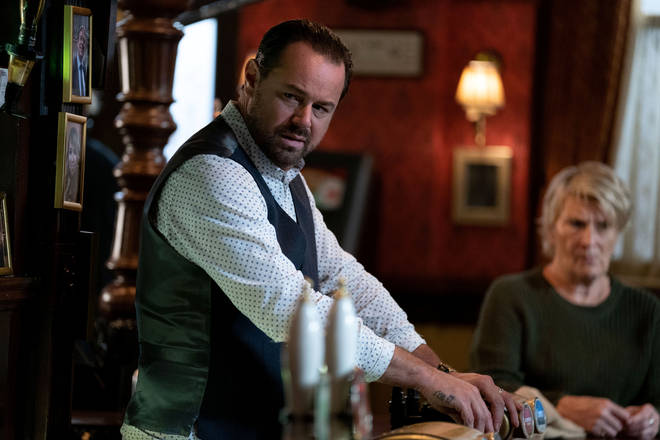 EastEnders' newcomer Katy tracks down Mick in the pub