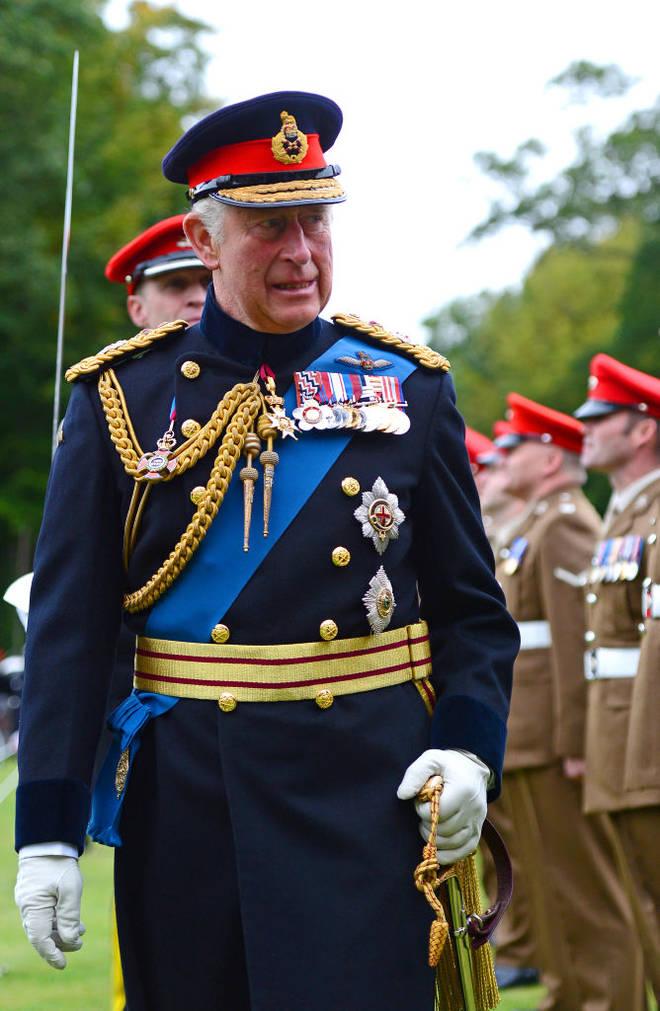 Prince Charles at a royal ceremony