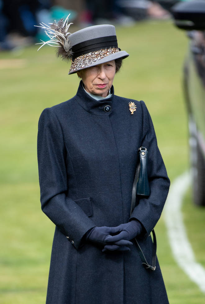 Princess Anne at the races