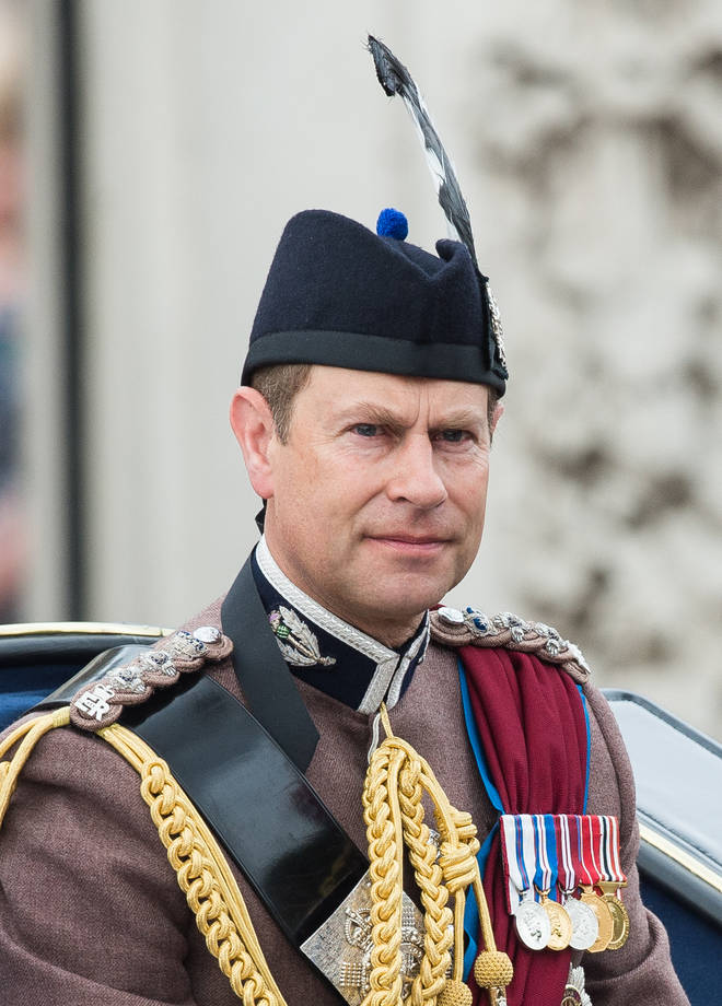 Prince Edward in his uniform at a royal ceremony