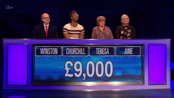 The contestants were cleverly placed on The Chase