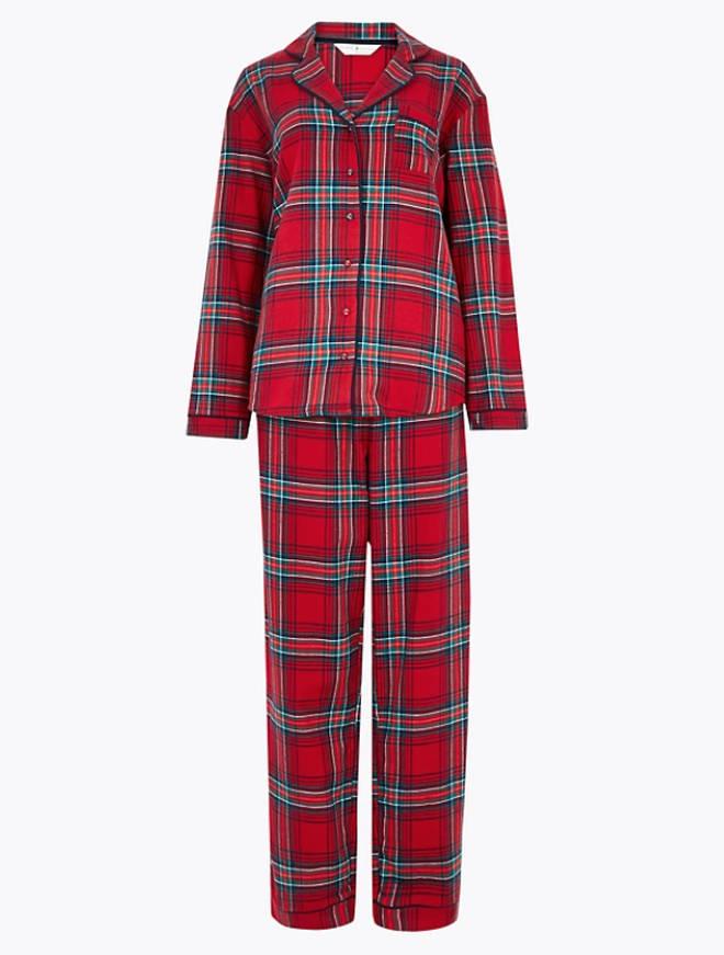 Christmas Checked Pyjama Set by M&S, £25.00