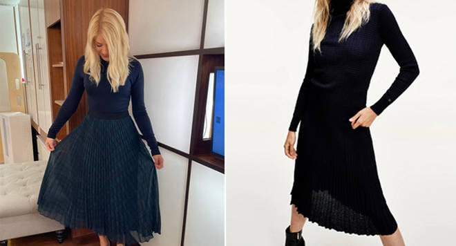 Holly Willoughby's skirt is from Tommy Hilfiger