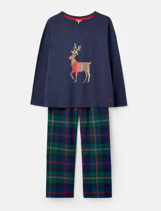 Goodnight Christmas Reindeer Pyjamas by Joules, £44.95