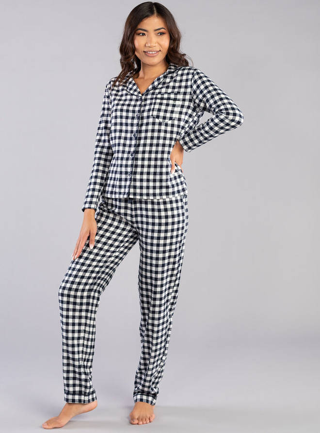 Navy Gingham PJs by Boux Avenue, £25.00