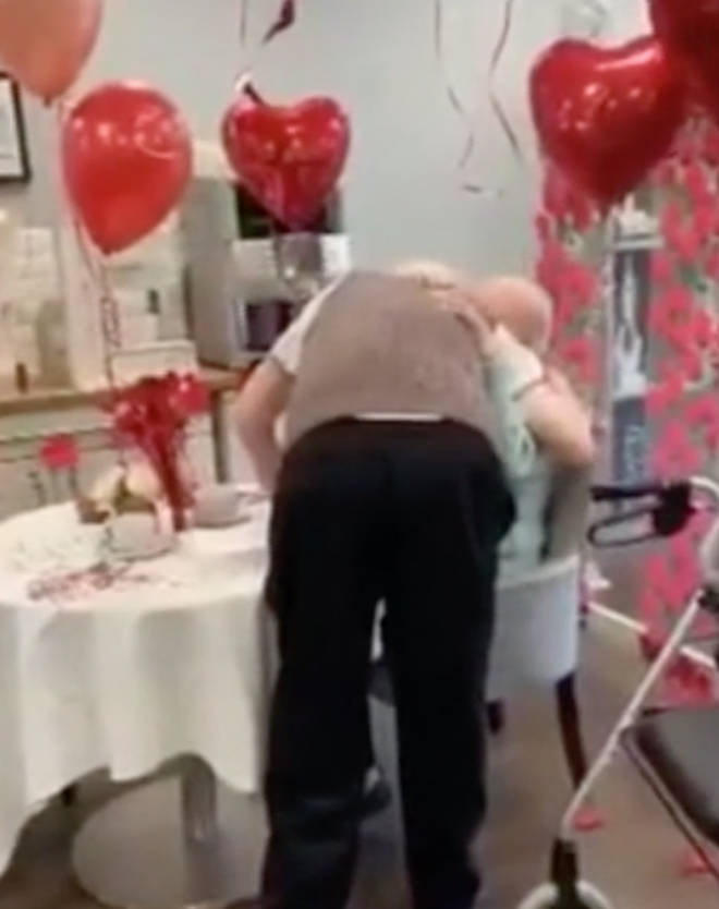 Kenneth broke down in tears when he saw his wife of 71 years