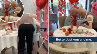 Pensioner surprises husband by moving into his care home because she 'couldn't live without him'