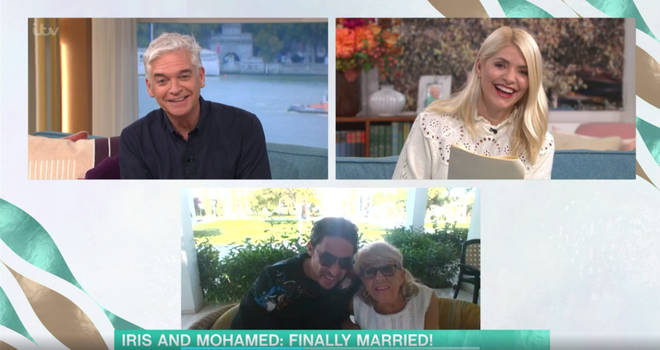 Holly and Phil quizzed the couple about their wedding night