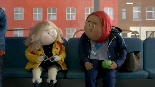 John Lewis' advert includes different scenes of people carrying out acts of kindness
