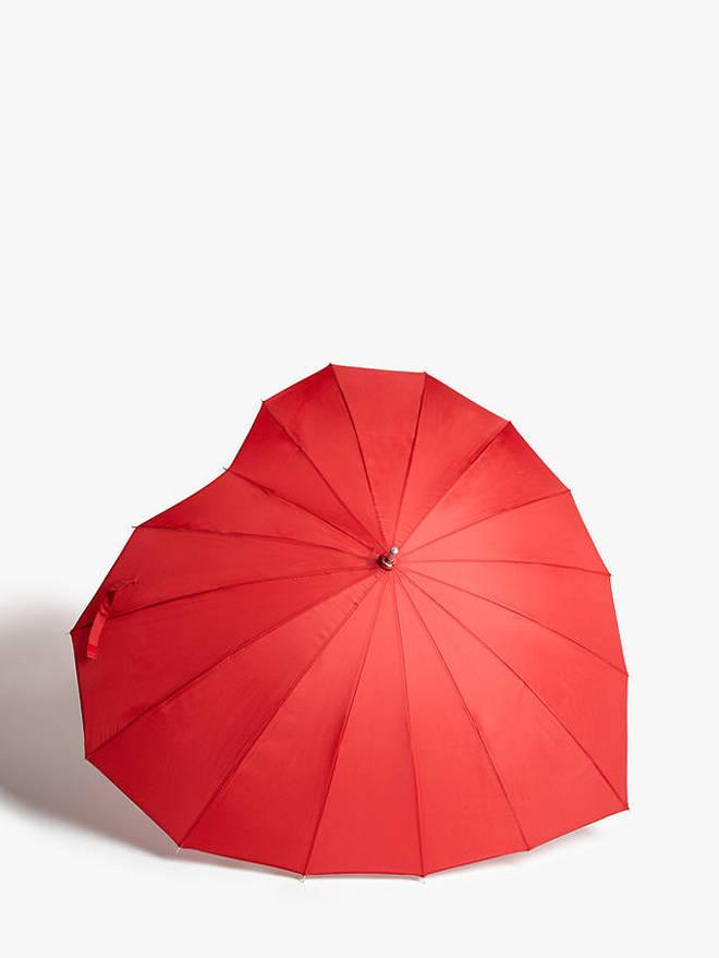 Heart-shamed umbrella