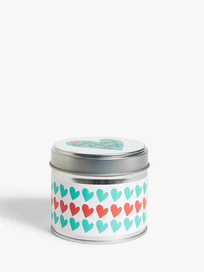 Love Hearts Candle Tin