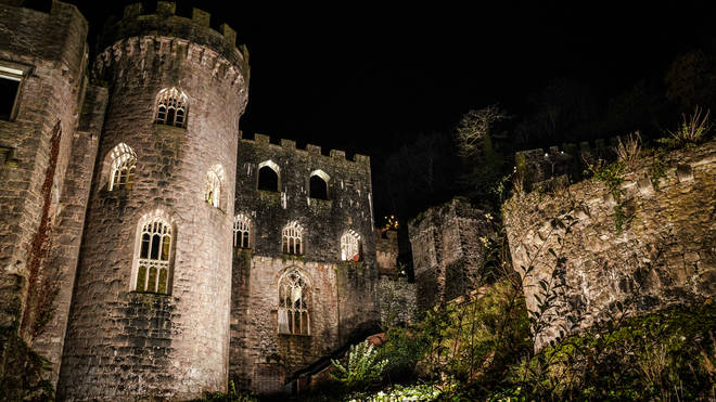The castle looks very eery from the outside