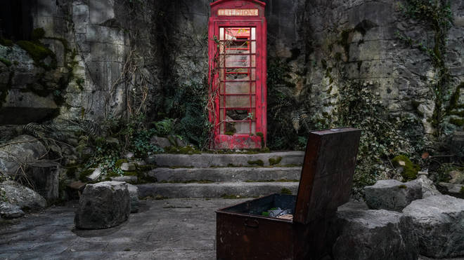 The famous telephone box has moved to Wales