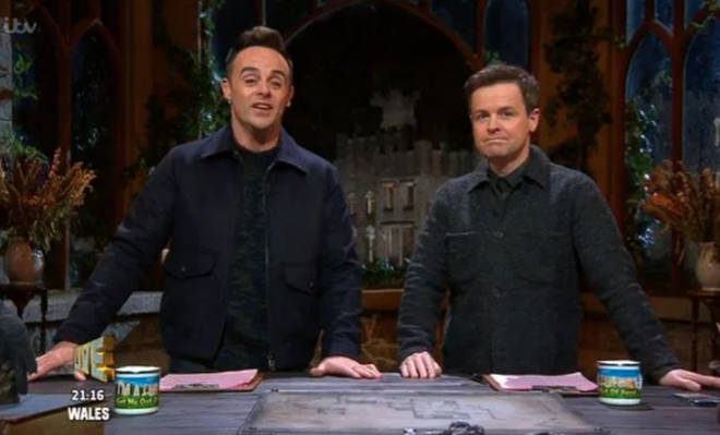 Ant and Dec joked about the time at the bottom of the screen