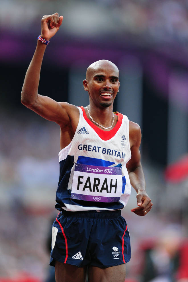 Mo Farah won the gold medal for 10,000m at the London Olympics in 2012