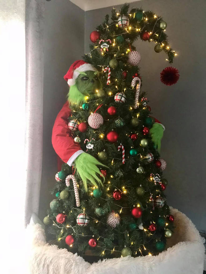 This Grinch Christmas tree was made for £35
