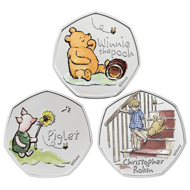 The coins were released to mark 100 years since AA Milne was born in 1920