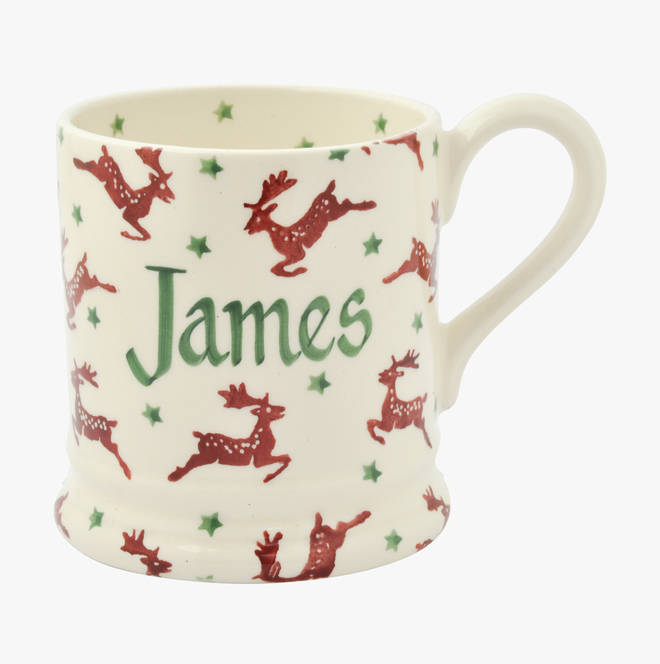 Personalised mugs are a lovely touch