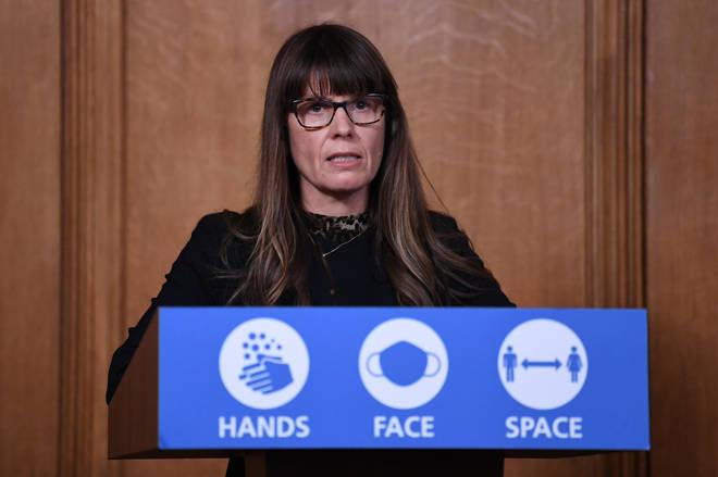 Dr Susan Hopkins spoke at a recent press conference