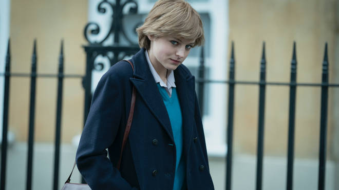 Emma Corrin plays Princess Diana in The Crown