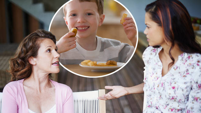 The mum demanded compensation after she found her children eating chicken nuggets