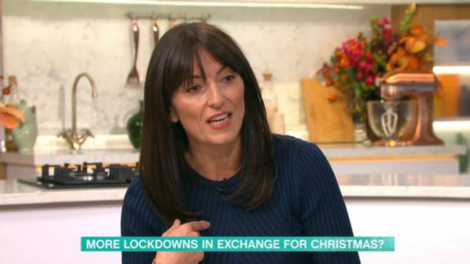 Davina stood in for Holly Willoughby on Thursday