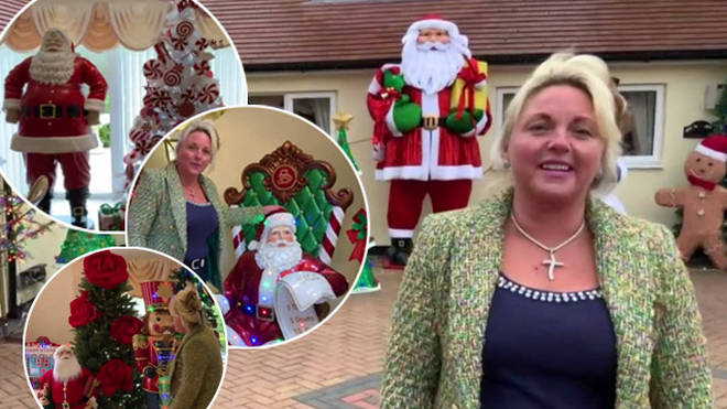 A woman has revealed her incredible Christmas decorations