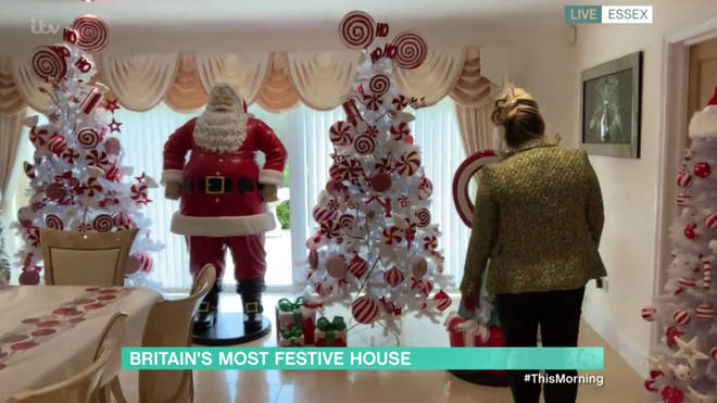 Joanne has shown off her Christmas decorations