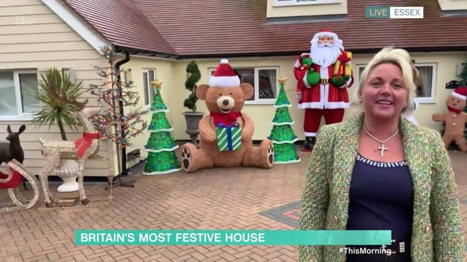 Joanne has shown off her Christmas Joanne has shown off her Christmas decorations