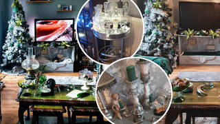 Mum transforms living room into Harry Potter Christmas paradise for under £70